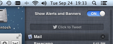 How to disable notiication center temporarily