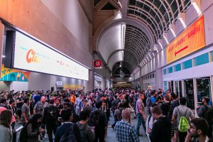 Photo of large crowd at KubeCon 2019